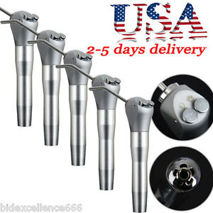 5x Dental Air Water Spray Triple Syringe 3 Way Handpiece 4 Nozzles Tips Tubes us