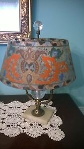 Pairpoint Lamp Reverse Painted Shade Artist Signed Free Shipping