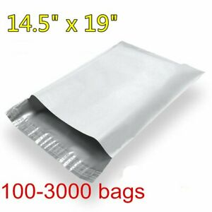 100 3000 14 5x19 Poly Mailers Bag Mailing Envelopes Self Sealing Plastic Bags