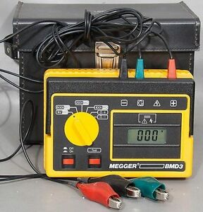 Avo Biddle megger Bmd3 Portable Insulation Continuity Tester Catalog No 210601