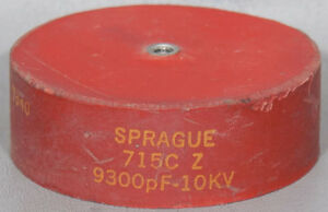 Sprague vishay 715c Z 9300pf 10kv Door Knob Capacitor 9300 Pf 10 Kv