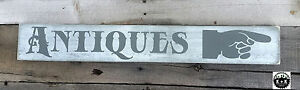 Primitive Handmade Wooden Sign Antiques Double Sided Rustic Primitive