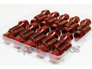 Z Racing 28mm Red Lug Bolts 14x1 25mm For Bmw X1 X3 X4 X5 X6 Cone Seat