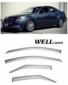 For 08 13 Cadillac Cts Sedan Wellvisors Side Window Visors Premium Series