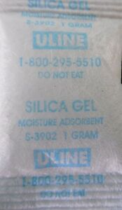 50 1 Gram Silica Gel Packets Desiccant Packs New