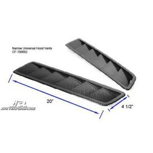 Apr Performance Carbon Fiber Universal Narrow Long Hood Cooling Vents Pair New