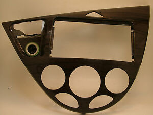 2000 2001 2002 2003 2004 Ford Focus Dash Radio Trim Bezel Wood Grain Oem Part