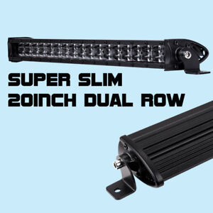 20inch Super Slim Cree Single Row Led Light Bar Combo Beam 6000k Driving Suv Bwm