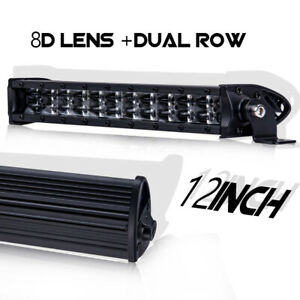 12inch 120w 8d Super Slim Single Row Led Light Bar Cree Combo Beam Driving Jeep
