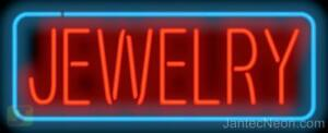 Jewelry Neon Sign Supersized Diamonds Watches Gold Silver Pawn Shop Jantec