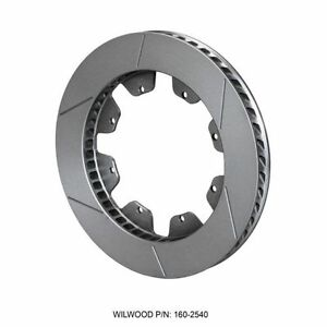 Wilwood 160 2540 Gt 48 Curved Vane Brake Rotor Spec 37 Iron 8 X 7 00 Bolt Circle