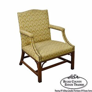 Kittinger Colonial Williamsburg Chippendale George Ii Style Arm Chair Cw 14 B