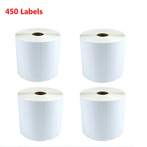 4 Rolls 450 roll 4x6 Thermal Mailing Shipping Labels For Zebra Zp500 Zp505