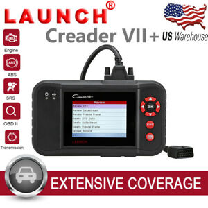 Launch Creader Vii Obd2 Diagnostic Scanner Code Reader Transmission Abs Airbag