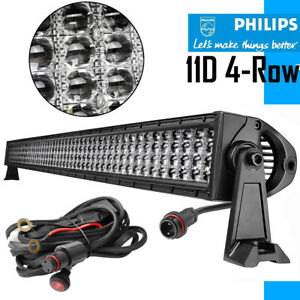 54inch Philips 10d 2080w Quad Row Curved Led Light Bar Driving Combo Beam Vs 52