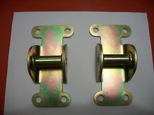 Small Block Chevy Solid Steel Motor Mount Pads Pair Gm Moroso 1958 up Racing
