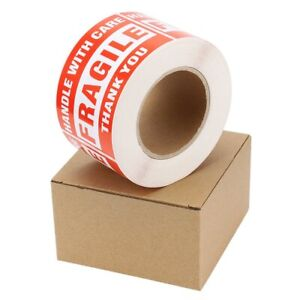 1000pcs 3x5 Fragile Stickers Handle With Care Thank You Shipping Mailing Labels