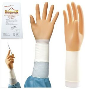 20 Pairs Sterilized Powder Free Surgical Gloves emblem 8 Sizes From Japan