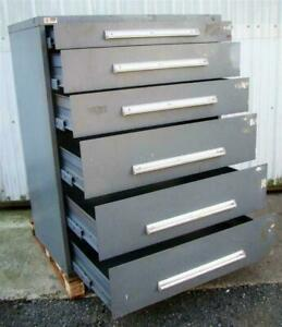 Stanley Vidmar 6 Drawer Tool Storage Cabinet Grey 45x27 1 2x57 W Lock Latches