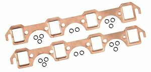 Maxx 160 Copper Exhaust Header Gaskets 62 86 Small Block Ford 260 289 302 351w