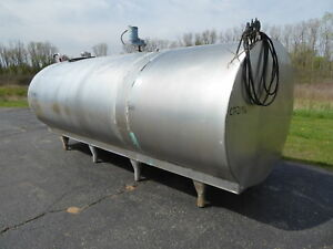 Mueller 2000 Gallon Stainless Steel Round Tank ct2196