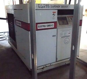 Gardner Denver Electra Saver Air Compressor Model 24ca3759 75 Hp W Dryer