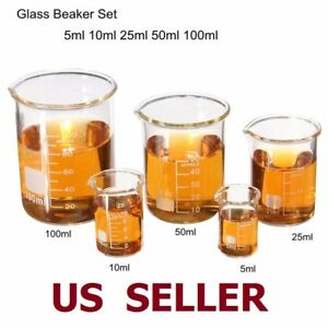 Different Combination Laboratory Glass Beaker Borosilicate Measuring Glasswar