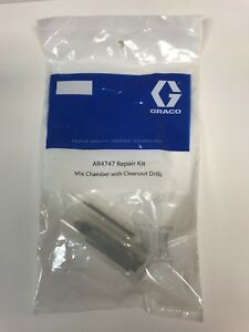 Ar4747 Round Mixing Chamber With 2 Drill Bits Graco Fusion Air Purge Ap