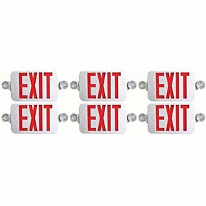 Ciata Lighted Exit Signs Lighting All Led Decorative Red Emergency Combo With 6