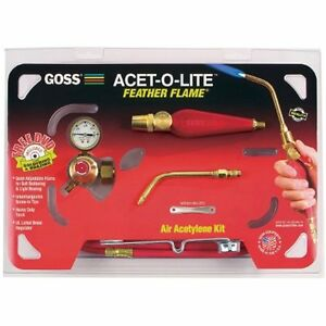 Goss Kits Ka 1h Soldering For Use With b Acetylene Tanks Economical Ba 3 Flame