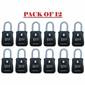 12 Keyed Padlocks Pack Of Safe Realtor Lock Box With Set your own Combination