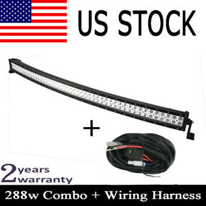 50inch Cree Curved 288w Led Work Light Bar Combo 4wd Fog Truck Jeep 300w 52 54