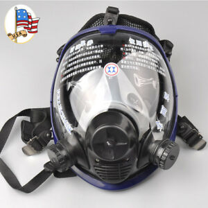 Full Face Large Vision Gas Mask Anti dust Facepiece Respirator Painting Spraying