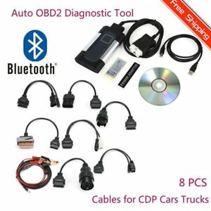 Bluetooth Tcs Cff Pro Plus For Autocom Obd2 Diagnostic Tool 8pcs Car Cables Ff