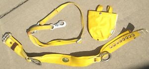 Miller Model 2na Medium Safety Belt Bag 6 Foot Nylon Strap Harness Metal Clamps