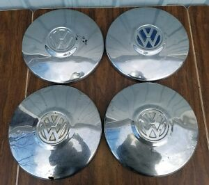 Original Volkswagen Beetle Bus 10 Dog Dish Hubcaps Hub Caps Set Of 4