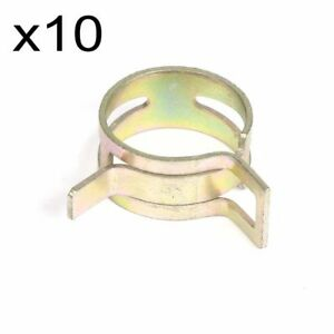 10x 11mm 0 43 Inch Id Spring Clip Fuel Oil Line Silicone Vacuum Hose Clamp