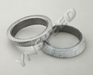 2pcs 2 5 Exhaust Manifold Downpipe Flange Weld on Graphite Donut Gasket