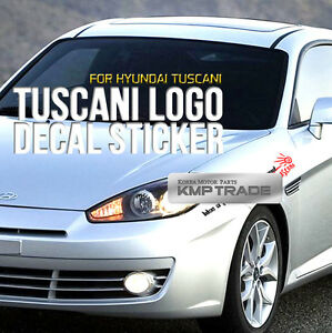 Tuscani Logo Slogan Decal Sticker Cover 6color For Hyundai 2001 07 Tiburon Coupe