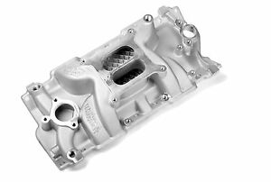 Weiand Sbc Small Block Chevy Aluminum Intake Speed Warrior 1955 1986 327 350 383