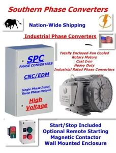 30 Hp Rotary Phase Converter industrial Cnc Grade extreme Duty Tefc