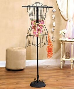 Metal Dress Form Wire Mannequin Vintage Boutique Clothing Display Stand Holder