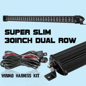 30inch Super Slim Single Row 300w Cree 8d Led Work Light Bar Combo Beam Driving