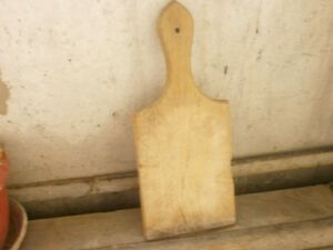 Antique Vintage Primitive Wooden Wood Bread Cutting Board Dough Plate 8