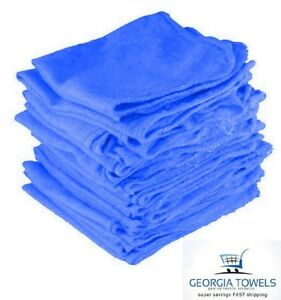 500 Count Mechanics Shop Rags Towels Blue Large Jumbo 14x14 Pacific Mills 145