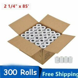 300 Rolls Case 2 1 4 X 85 Thermal Credit Card Cash Register Pos Receipt Pape