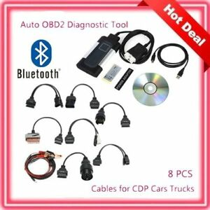 Bluetooth Tcs Cdp Pro Plus For Autocom Obd2 Diagnostic Tool 8pcs Car Un