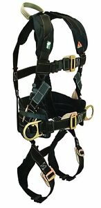 Falltech Arc Flash Electrician Belted Full Body Safety Harness Side D Ring Small