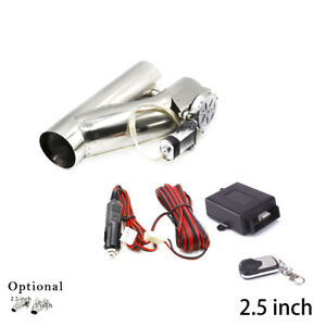 2 5 Electric Exhaust Valve Catback Downpipe Cut System Y Pipe Wireless Remote