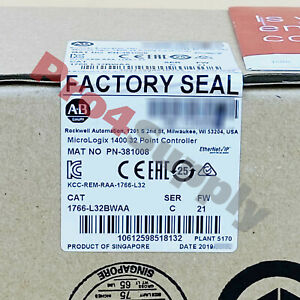 2018 2019 Us Stock Allen bradley Micrologix 1400 32point Controller 1766 l32bwaa